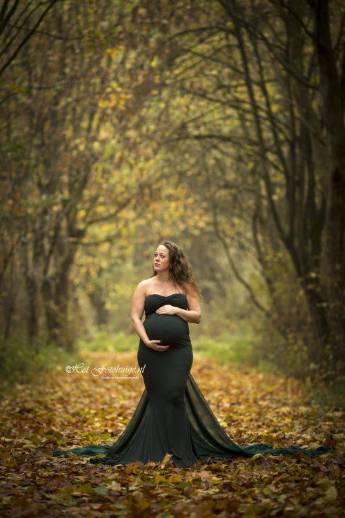 Zwangerschapsshoot in de herfst